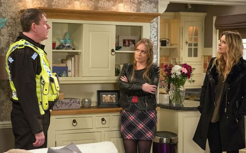 Charity Dingle receives a police visit in Emmerdale