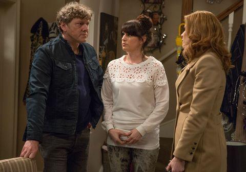 Bernice Blackstock gets suspicious over Kerry Wyatt and Daz Spencer in Emmerdale