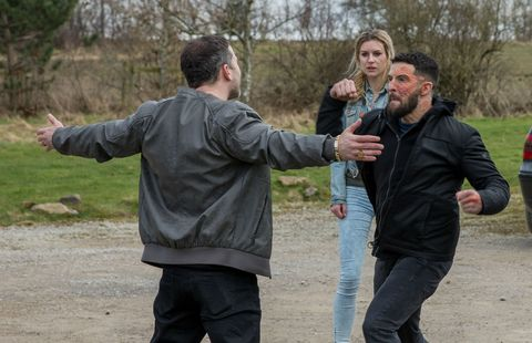 Ross Barton confronts Connor in Emmerdale