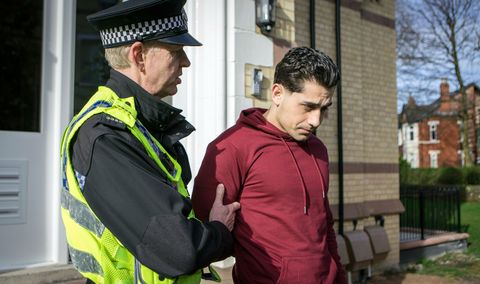 Josh Tucker is arrested in Coronation Street