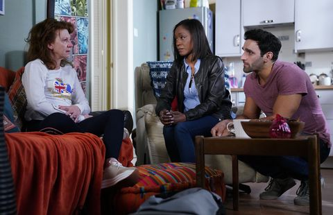 Carmel Kazemi struggles with her grief in EastEnders