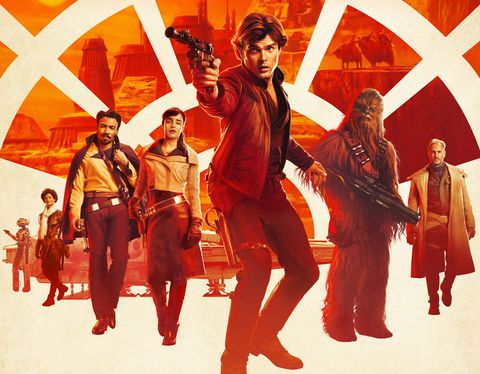 Solo: A Star Wars Story poster with cast
