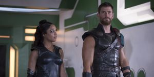 Chris Hemsworth and Tessa Thompson in Thor: Ragnarok
