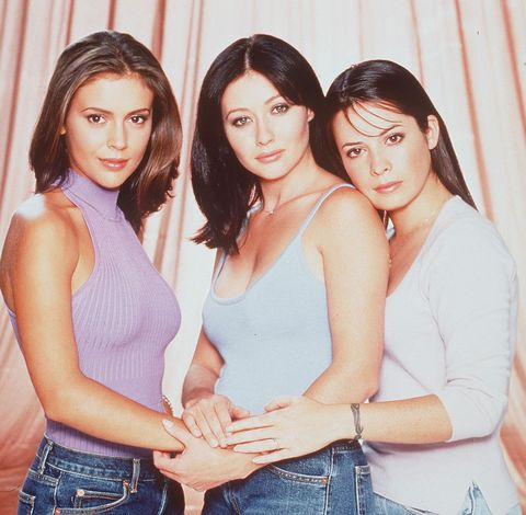 alyssa milano, shannen doherty, holly marie combs, charmed 1991