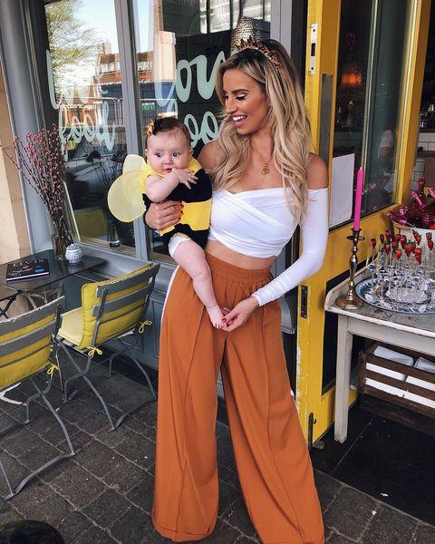 Ferne McCann with baby Sunday