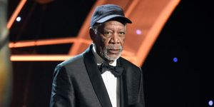 Morgan Freeman accepts the Fashion Achievement Award