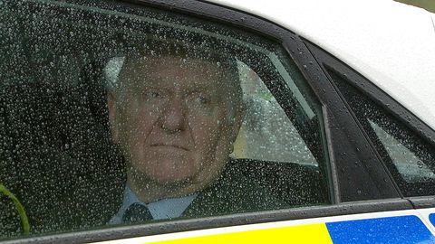 EMBARGO  07:00am Tuesday June 5 Doug Potts is taken away by police in Emmerdale