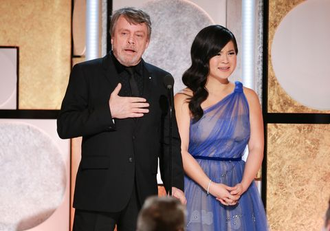 Mark Hamill, Kelly Marie Tran, pictured together in February 2018