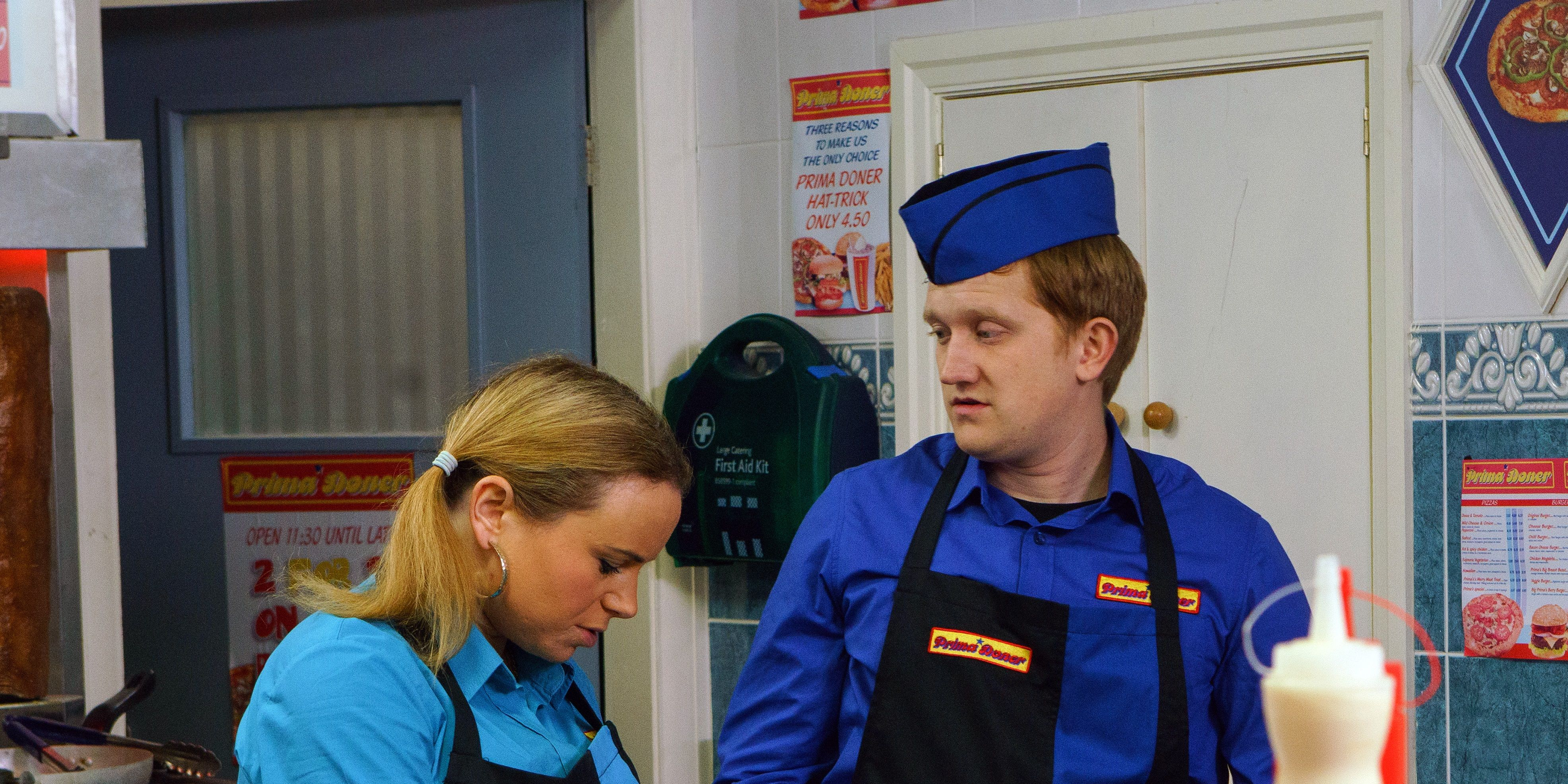 Gemma Winter and Chesney Brown in Coronation Street