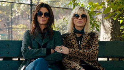 Sandra Bullock and Cate Blanchett as Debbie Ocean and Lou in Ocean's 8