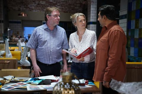 Ian Beale and Masood clash about the business in EastEnders