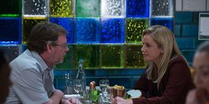 Ian Beale and Mel Owen have a heart-to-heart in EastEnders