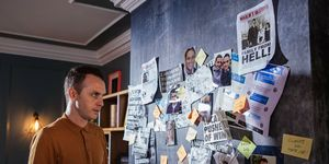 James Nightingale makes a suspects board in Hollyoaks