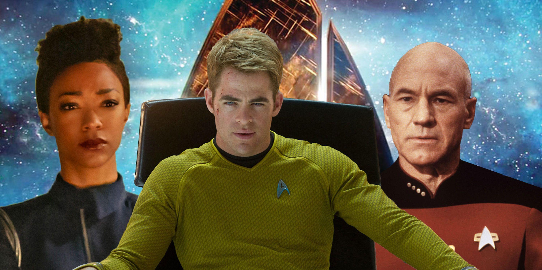 PHOTOSHOP, Star Trek, Sonequa Martin Green (Michael Burnham), Chris Pine (Kirk), Patrick Stewart (Picard)
