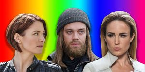Caity Lotz, Chlyer Leigh, Tom Payne, The Walking Dead, Supergirl, Legends of Tomorrow