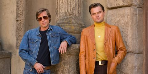 Brad Pitt and Leonardo DiCaprio in Quentin Tarantino's Once Upon a Time in the West