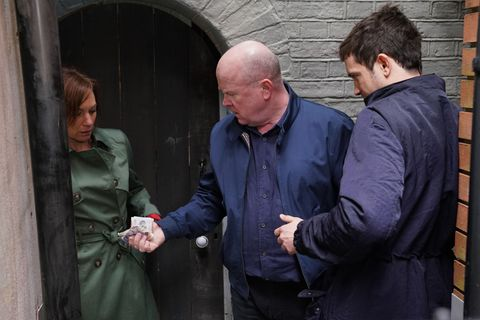 Phil Mitchell confronts Rainie Cross's dealer in EastEnders