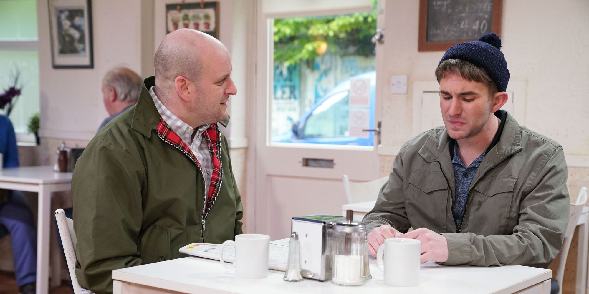 Stuart Highway and Halfway have a heart-to-heart in EastEnders