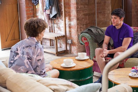 Ollie Morgan takes a liking to Brooke Hathaway in Hollyoaks