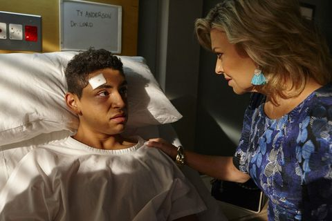 Ty Anderson is comforted by Marilyn Chambers in Home and Away