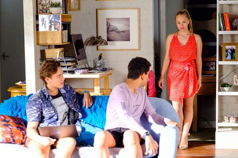 Raffy Morrison reveals the dress she plans to wear for the wedding in Home and Away