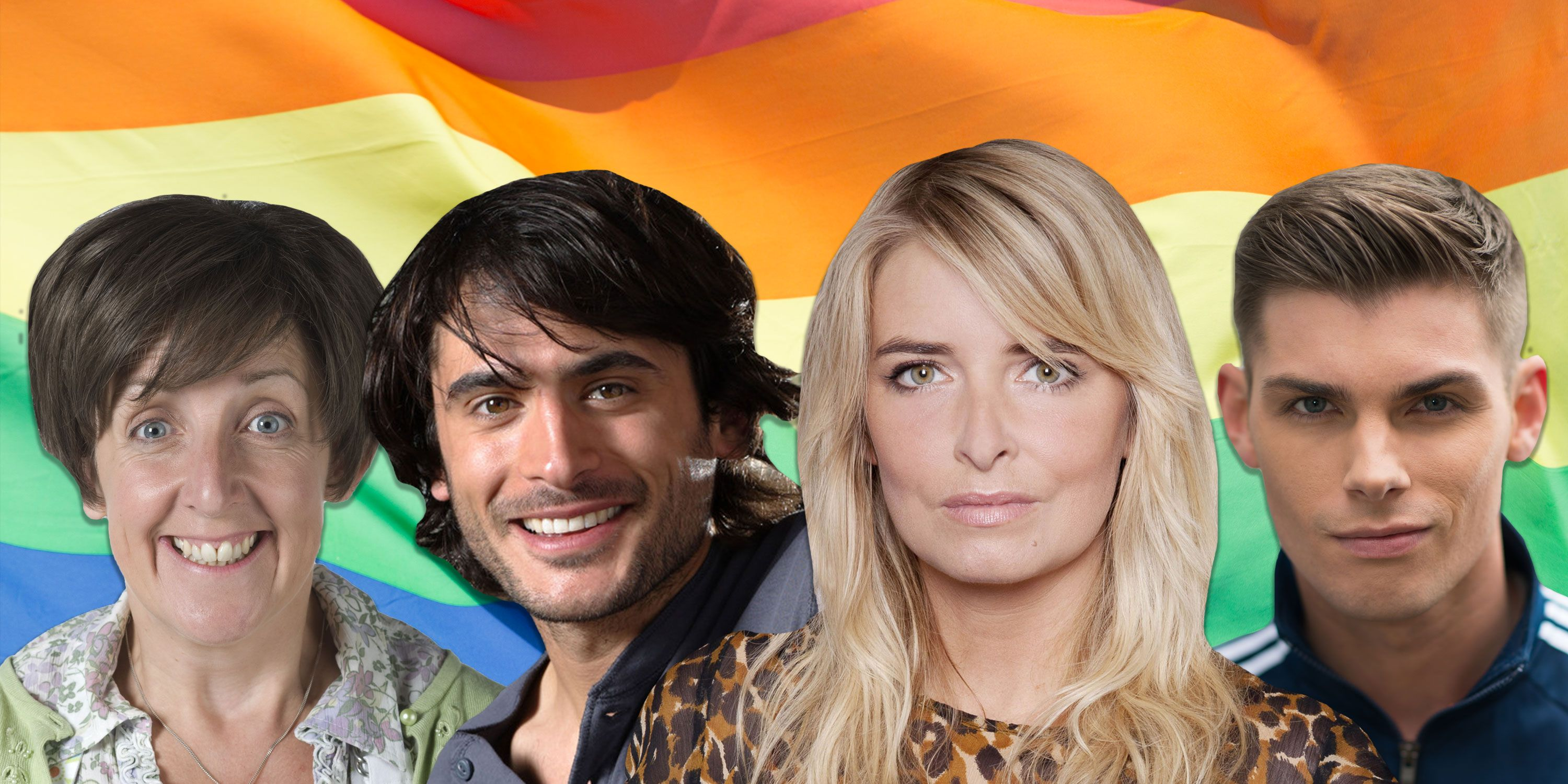 Charity, Ste, Syed, Hayley, LGBTQ+ soap comp