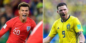 Dele Alli, England, Marcus Berg, Sweden, World Cup 2018