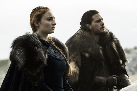 Sansa and Jon in Game of Thrones