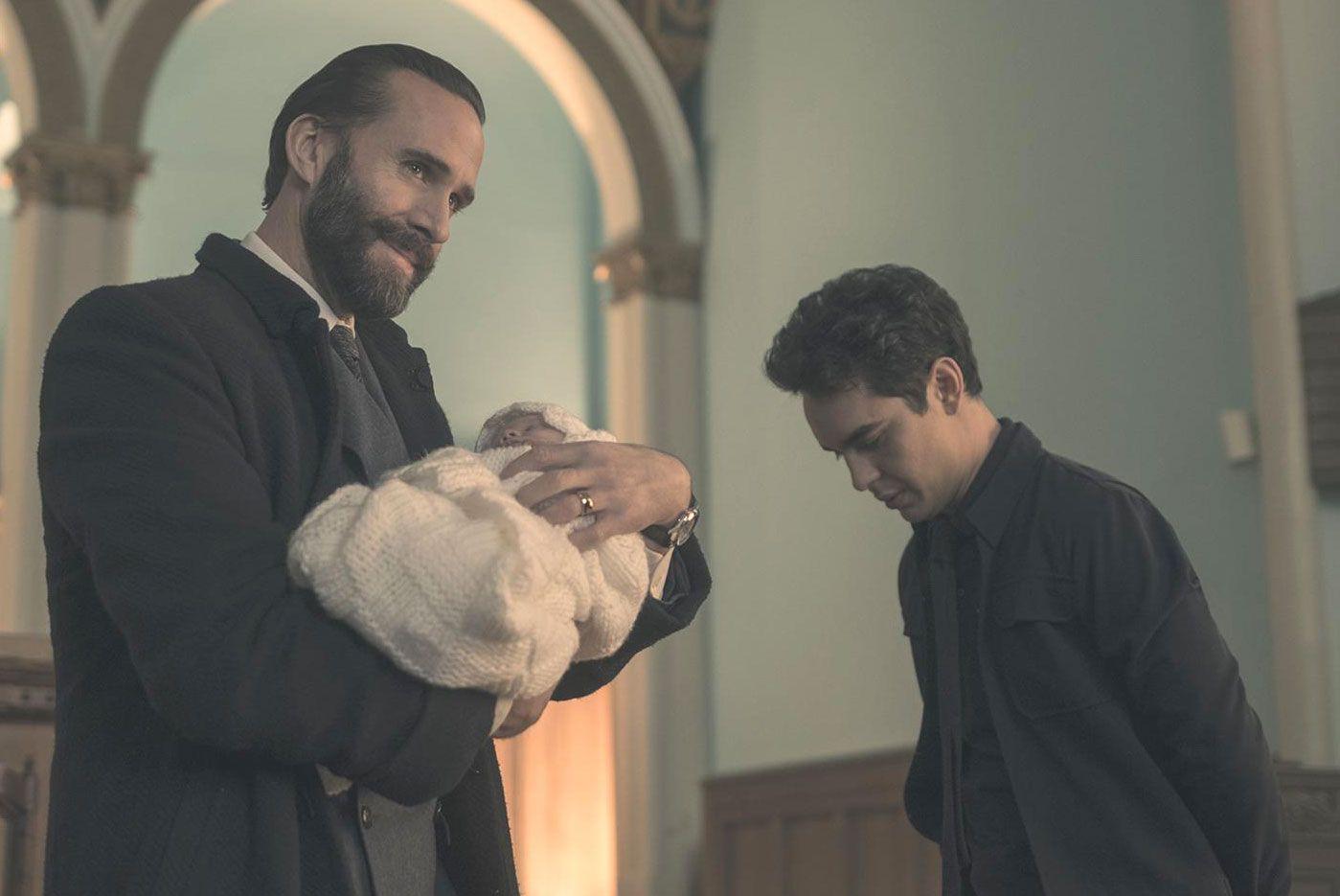 The Handmaid's Tale, Season 2 finale, Commander Waterford (Joseph Fiennes) and Nick (Max Minghella)