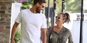 Caroline Flack, Andrew Brady pictured 11 July 2018
