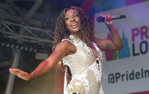 Alexandra Burke, performing during Pride in London