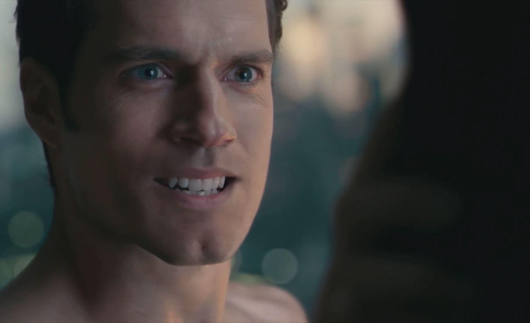 Superman with fake moustache cgi