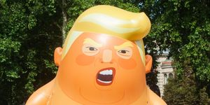 Protestors fly 18 foot Donald Trump baby balloon over Parliament Square, London