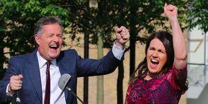 Piers Morgan and Susanna Reid celebrate Good Morning Britain ratings
