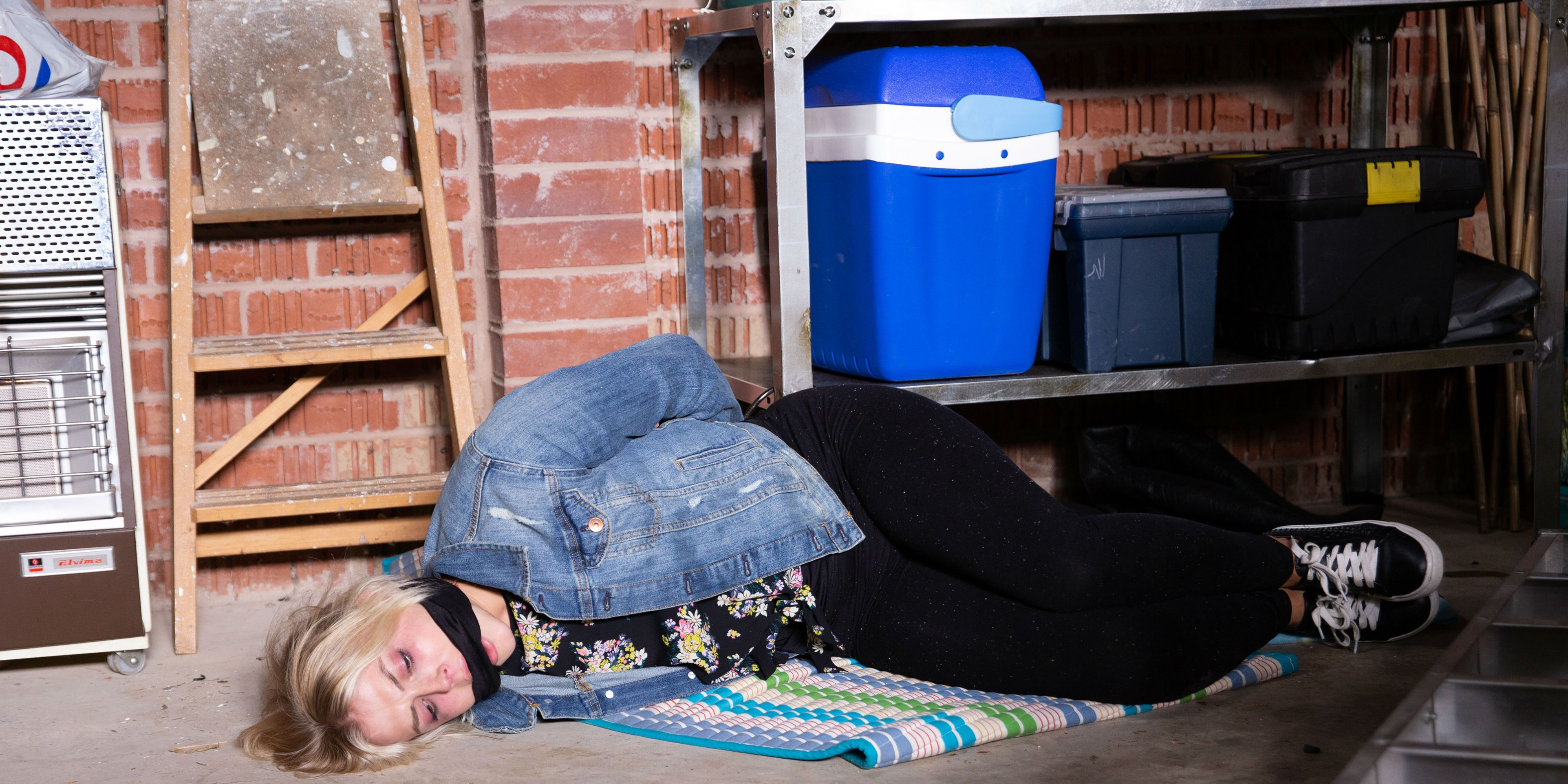 Bethany Platt is held captive by Kayla Clifton in Coronation Street