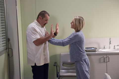 Toadie Rebecchi comes face-to-face with Fake Dee (Andrea Somers) again in Neighbours