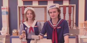 Maya Hawke and Joe Keery in Stranger Things teaser