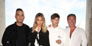 X Factor judges, Robbie Williams, Ayda Field, Louis Tomlinson, Simon Cowell