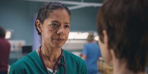 Elle Gardner and Connie Beauchamp in Casualty