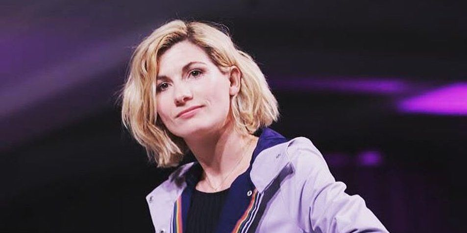 Jodie Whittaker wears her Doctor Who costume at Her Universe fashion show