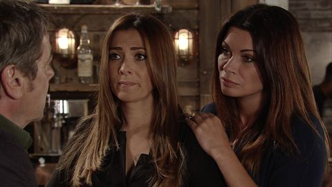 Johnny Connor confides in Carla and Michelle about his fears in Coronation Street