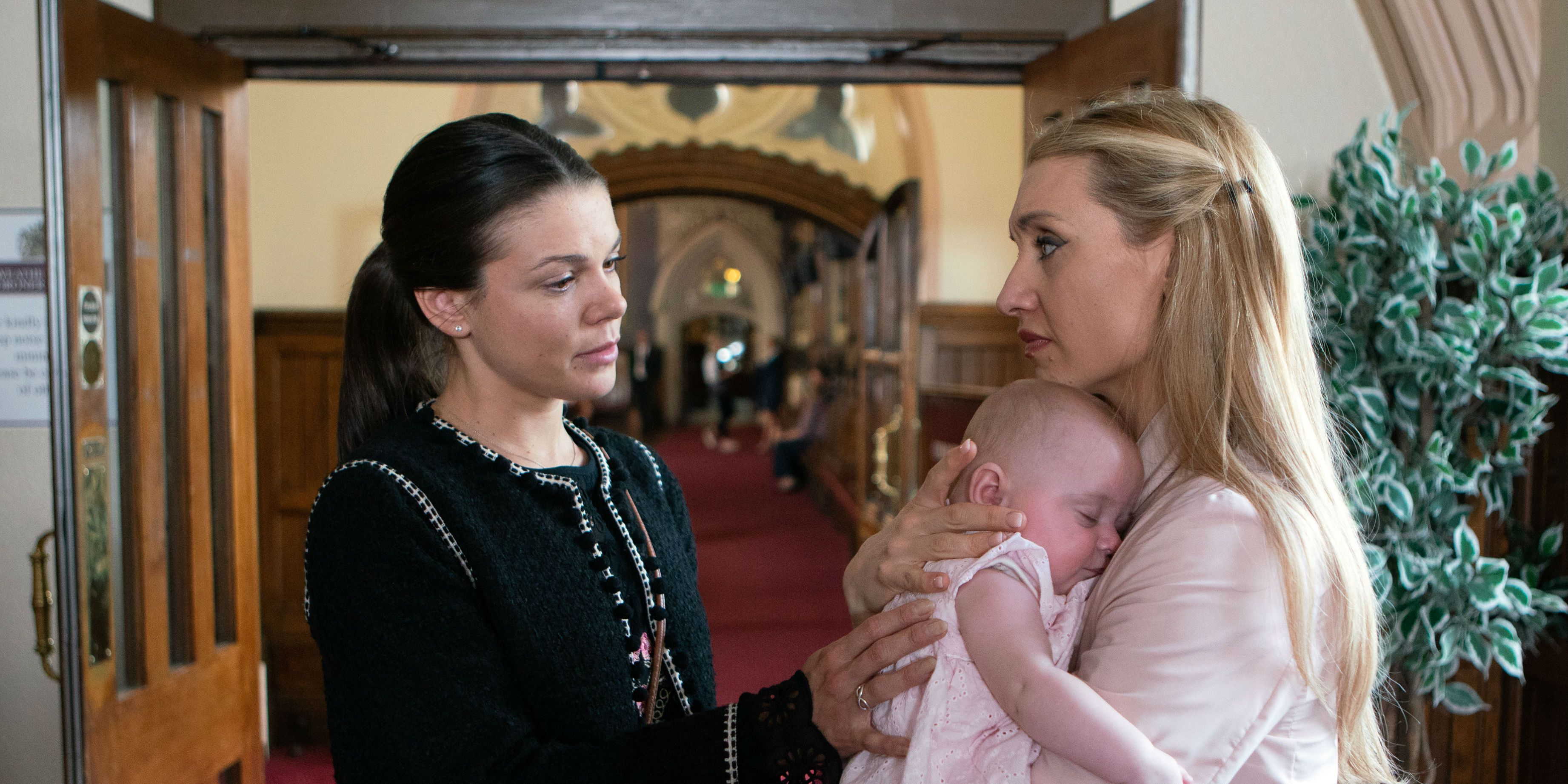Kate Connor and Eva Price say goodbye in Coronation Street