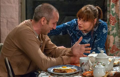 Sam Dingle reveals his past to Lydia Hart in Emmerdale