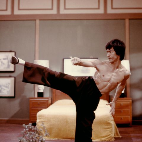 Bruce Lee in Enter the Dragon, January 1973