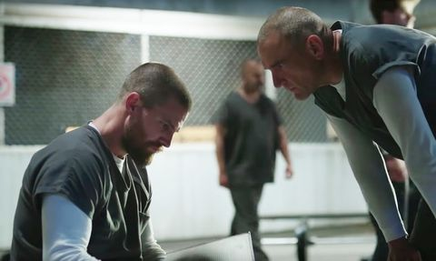 Oliver Queen and Danny 'Brick' Brickwell in Arrow season 7