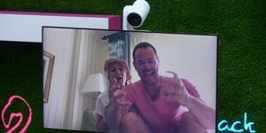 Love Island TX 56 – Danny Dyer and Jo Mas on video call