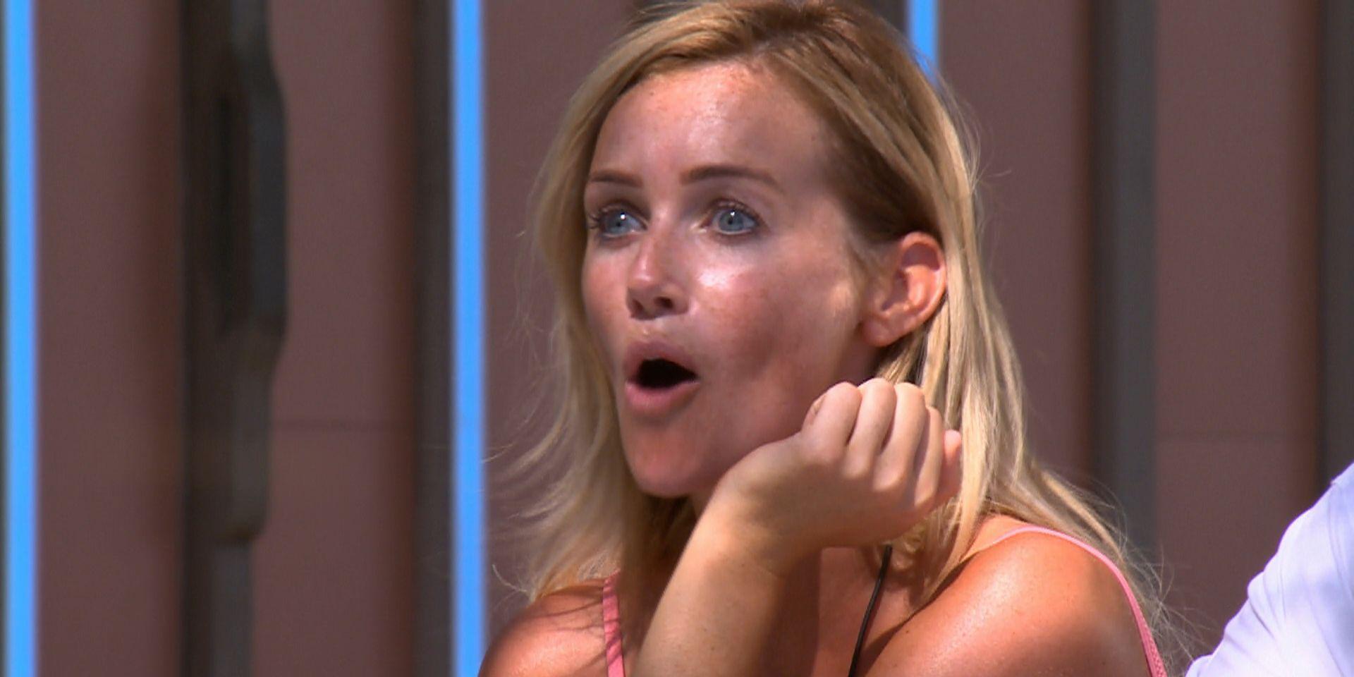 Love Island TX56 – Laura Anderson is shocked