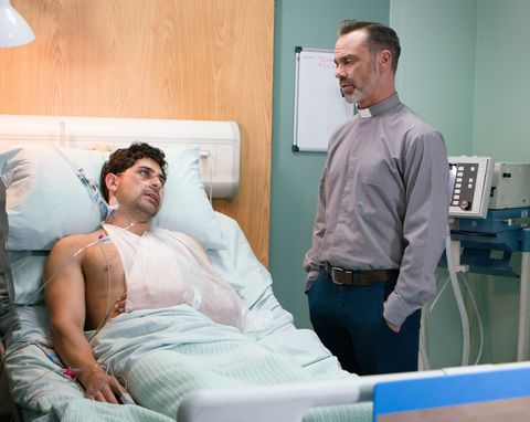 Josh Tucker receives another visit from Billy Mayhew in Coronation Street