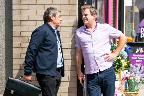 Steve McDonald confronts Johnny Connor in Coronation Street