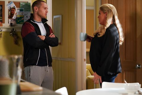 Keanu Taylor talks to Sharon Mitchell in EastEnders